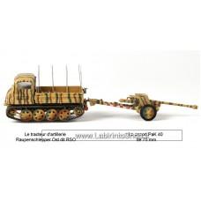 Atlas – Tracteur d'Artillerie Raupenschlepper + Pak 40 1/43