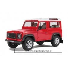 Cararama 1/43 - Land Rover Defender 90 - Red/White