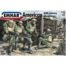 Emhar EM 3509 - 1/35 - WWI American Infantry 'Doughboys'