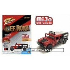 Johnny Lighting - Off Road - Mijo Exclusive - Hummer H1 Wagon Black-Red (Diecast Car)