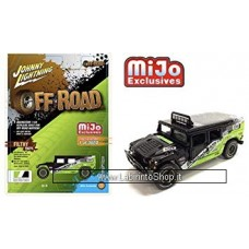 Johnny Lighting - Off Road - Mijo Exclusive - Hummer H1 Wagon Black-Green (Diecast Car)