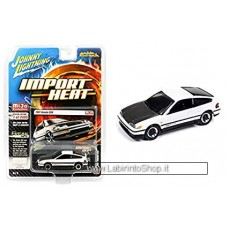 Johnny Lighting - Import Heat - Mijo Exclusive - 1991 Honda CRX White (Diecast Car)