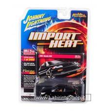 Johnny Lighting - Import Heat - Mijo Exclusive - 1991 Honda CRX Black (Diecast Car)