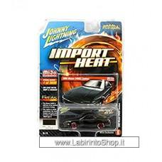Johnny Lighting - Import Heat - Mijo Exclusive - 1990 Nissan 240SX Custom Black (Diecast Car)