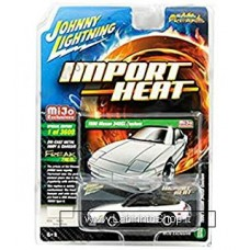Johnny Lighting - Import Heat - Mijo Exclusive - 1990 Nissan 240SX Custom White (Diecast Car)