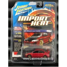 Johnny Lighting - Import Heat - Mijo Exclusive - 2004 Misubishi Lancer Evolution (Diecast Car)