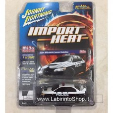 Johnny Lighting - Import Heat - Mijo Exclusive - 2004 Misubishi Lancer Evolution Police (Diecast Car)
