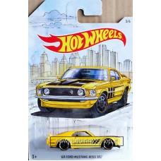 Hot Wheels - Detroit Muscle  - 69 Ford Mustang Boss 302 (Diecast Car)