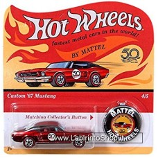Hot Wheels - 50 Anniversary with Button - Custom 67 Mustang (Diecast Car)