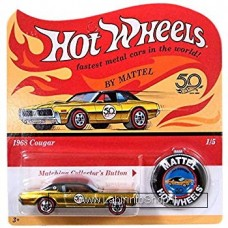 Hot Wheels - 50 Anniversary with Button - 1968 Cougar (Diecast Car)