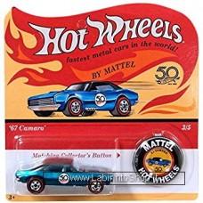 Hot Wheels - 50 Anniversary with Button - 1967 Camaro (Diecast Car)
