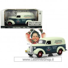 GreenLight 1/24 - Norman Rockwell - 1939 Chevrolet Panel Truck - Ridgewood Dental Clinic (Diecast Car)