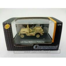 Cararama 1/72 1/4 ton Military Vehicle Jeep Sand Yellow  (Diecast Car)