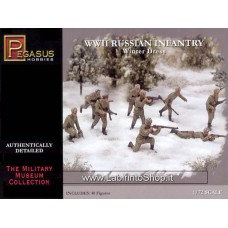 Pegasus Hobbies 1/72 WWII  Russian Infantry Winter Dress