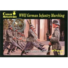 Caesar 081 WWII German Infantry Marching 1/72