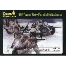Caesar 0097 WWII German Winter Unit with Pak 36 / Servants 1/72