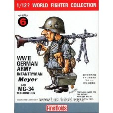 FineMolds World Fighters Collection WWII German Army Infantryman 1/12 Meyer N. 6