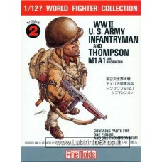 FineMolds World Fighters Collection WWII U.S. Army Infantryman 1/12  N. 2