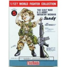 FineMolds World Fighters Collection WWII The Gulf War U.S. Army Infantry Women 1/12  N. 5