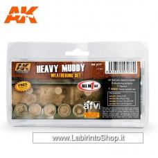 AK Interactive - AK077 - Heavy Muddy Weathering Set - Content 078 - 079 - 080 - 081