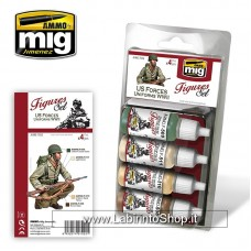 Ammo Mig Us Forces Uniforms WWII Figures Set