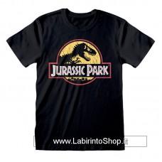 Jurassic Park T-Shirt Original Logo Distressed