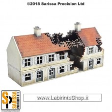 Sarissa Destroyed Terrace House Block - 20mm