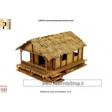Sarissa  Low Woven Palm-Style Village House - 20mm K204