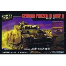 Forces of Valor 1/72 Plastic Model Kit German Panzer III Ausf.N