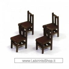 4ground 28mm Scale Bannister Back Chair 28s-fab-009m