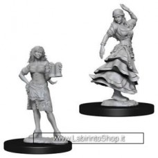 Dungeons & Dragons: Pathfinder Battles Unpainted Minis: Bartender / Dancing Girl Pathfinder