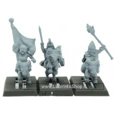 Warlord Erehwon Goat Heroes Halfling Mounted Command 28mm