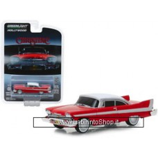 GreenLight 1/64 - Hollywood - 1958 Plymouth Fury Christine Evil Version with Blacked Windows Diecast Car