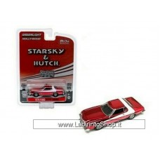 GreenLight 1/64 - Hollywood - Starsky and Hutch - 1976 Ford Gran Torino Chrome Edition Diecast Car