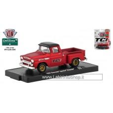 M2 - 1958 Chevrolet Apache Stepside - Metallic Red Diecast Car