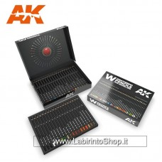 AK Interactive - AK10047 - Weathering Pencils For Modelling - 37 Pencils
