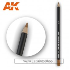 AK Interactive - AK10017 - Weathering Pencils For Modelling - Dark Chipping For Wood