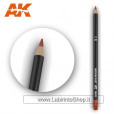 AK Interactive - AK10011 - Weathering Pencils For Modelling - Medium Rust