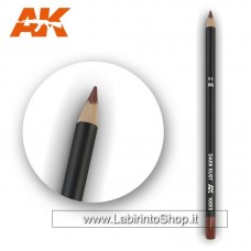 AK Interactive - AK10013 - Weathering Pencils For Modelling - Dark Rust