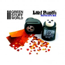 Green Stuff World Miniature Leaf Punch Dark Green 1311