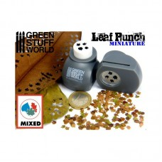 Green Stuff World Miniature Leaf Punch Grey 1300