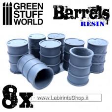 Green Stuff World Resin 8x Resin Barrels