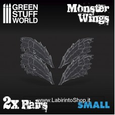 Green Stuff World 2x Resin Monster Wings - Small