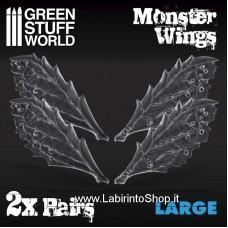 Green Stuff World 2x Resin Monster Wings - Large