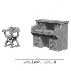 Dungeons & Dragons: Deep Cuts Unpainted Minis: Desk And Chair