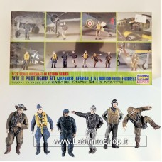 Hasegawa WWII Pilot Figures Set (Japanese, German, U.S., British) 1/72