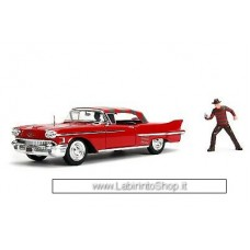 Jada 1/24 - Hollywood Rides - Nightmare on Elm St. - 1958 Cadillac with Freddy Krueger