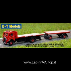 B-T Models - N010 - Albion CX3 F/Bed and Trailer - BRS 1/148