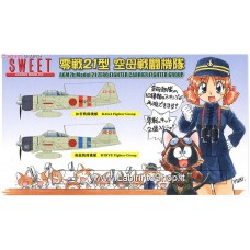 Sweet - Zero Fighter A6M2B Model 21 Carrier Fighter Group 1/144