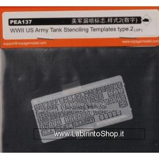 WWII U.S. Army Tank Stenciling Templates Type II 1/35